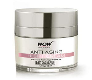 image result for WOW anti-aging night - Tan removal cream