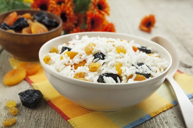 image result for Rice with Raisins and Walnuts
