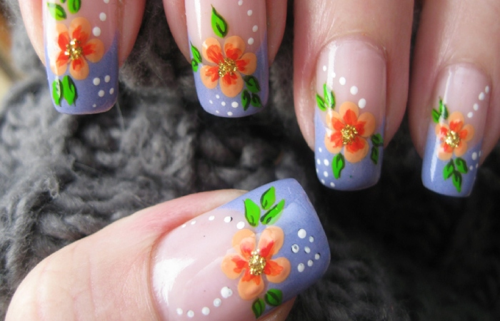 image result for delicate flower art nails