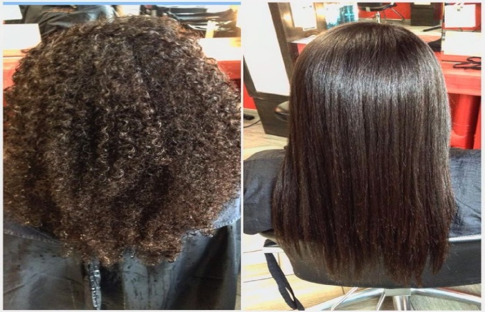 image result for chemical hair straightening