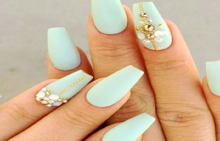 image result for mint green nail