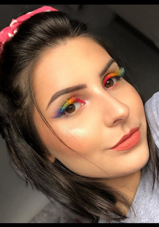image result for Outlined and Rainbow Eyelashes