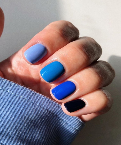 image result for classic blue ombre