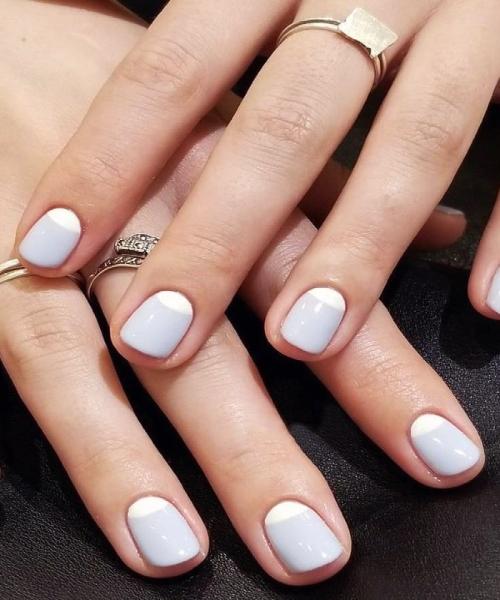 image result for crescent Moon - short nails