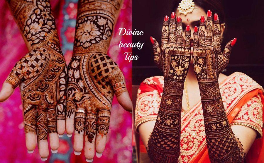 bridal mehandi designs for elbow