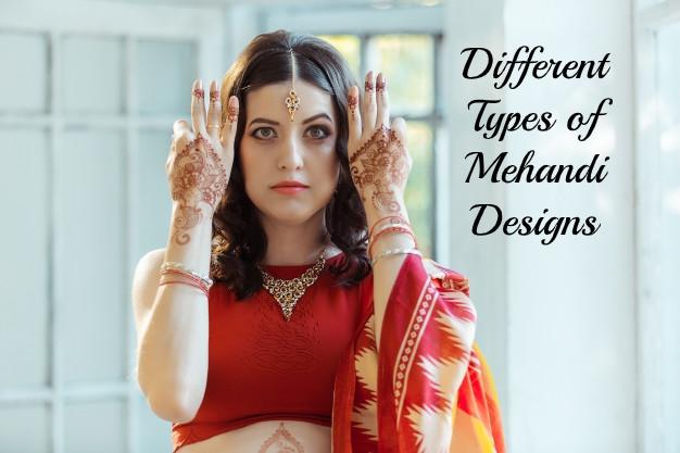 different types of mehandi designs