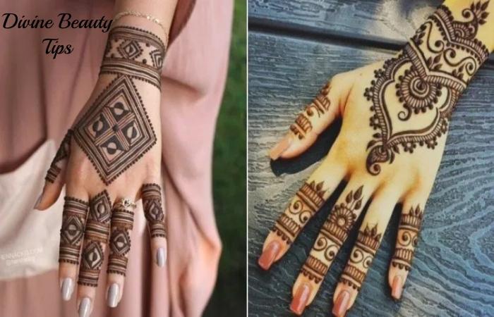 modern abstract bridal mehandi patterns