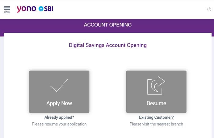 onlinesbi - savings bank account