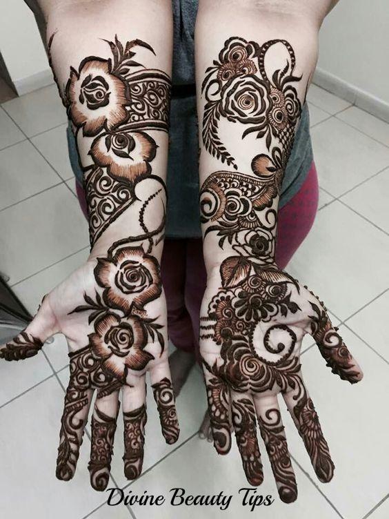 rose mehandi designs