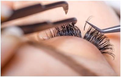 brush the lashes