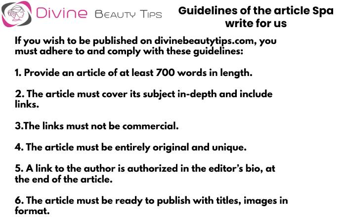 guidelines spa write for us