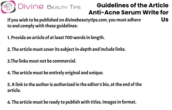 guidelines Anti-Acne Serum write for us