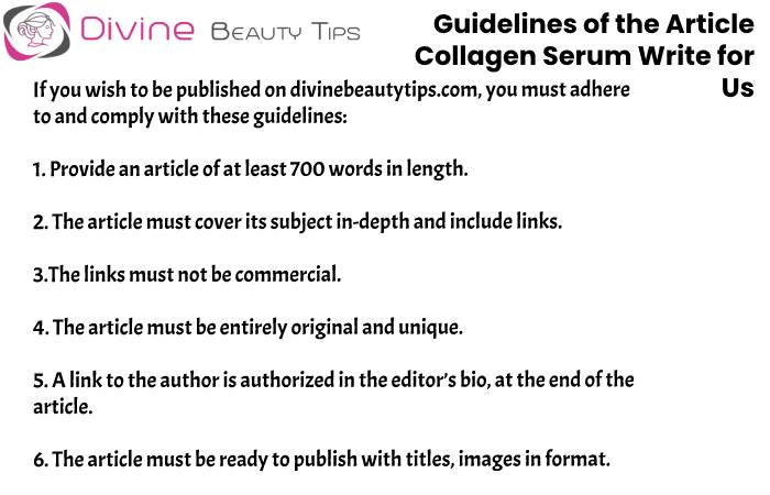 guidelines Collagen Serum write for us(20)