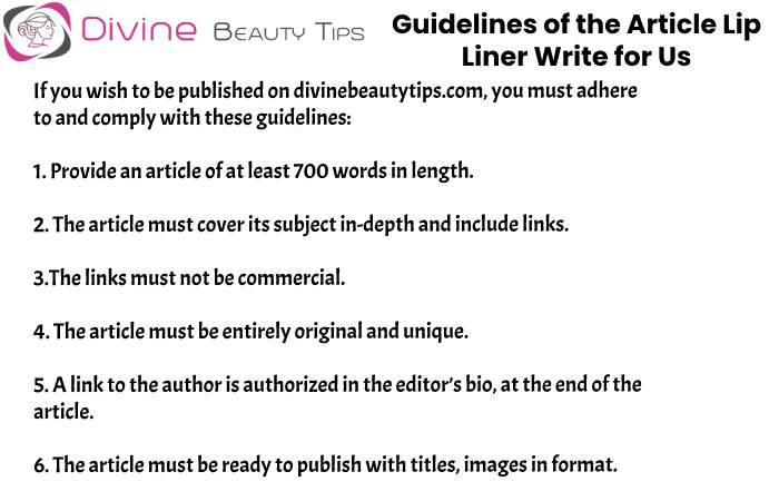 guidelines Lip Liner write for us(7)