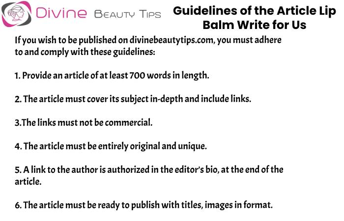 guidelines Lip Balm write for us(8)